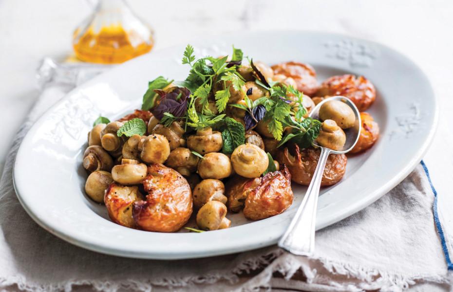 Roasted Mushroom & Potato Salad