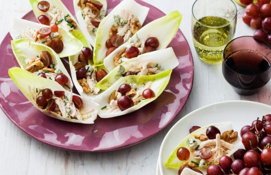 Grape and Chicken Salad Bites