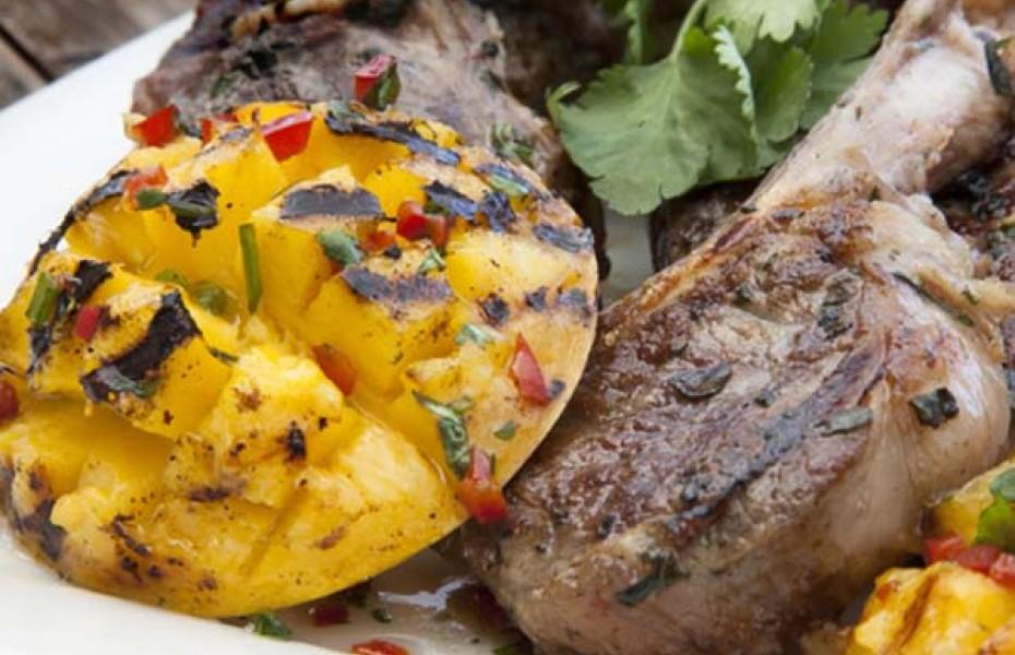 BBQ Mango Cheeks with Lamb