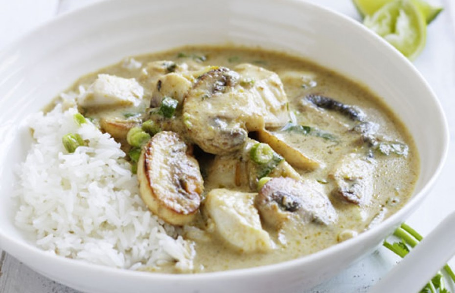 Thai Mushroom & Fish Curry