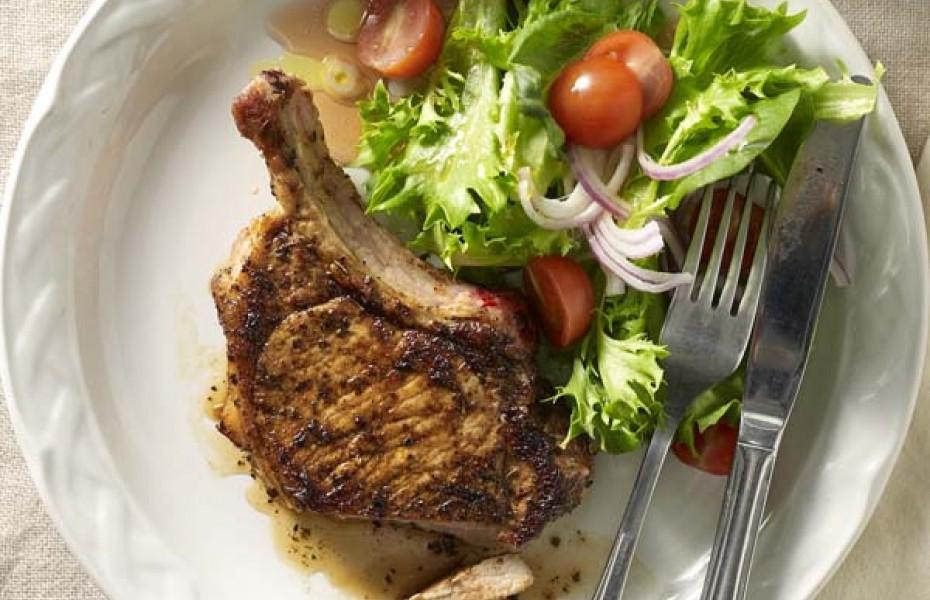 BBQ Cajun-Spiced Pork Chop