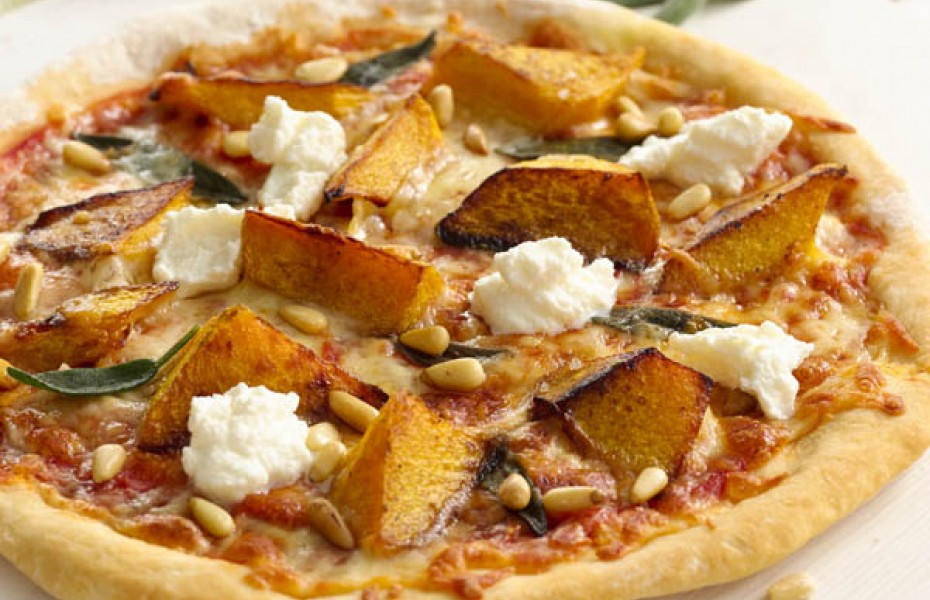 Pumpkin, Pine Nut and Ricotta Pizza