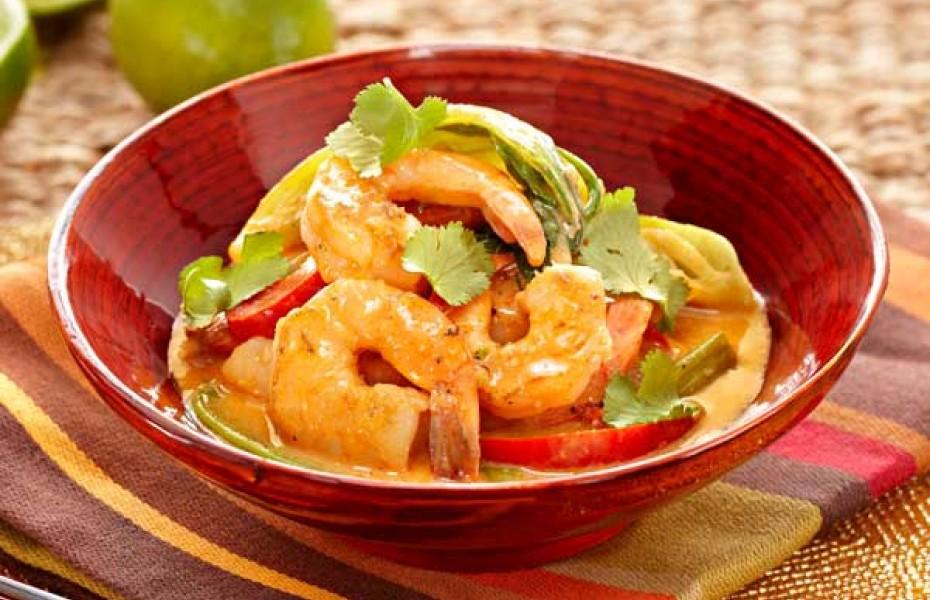 Aromatic Satay Prawn Curry