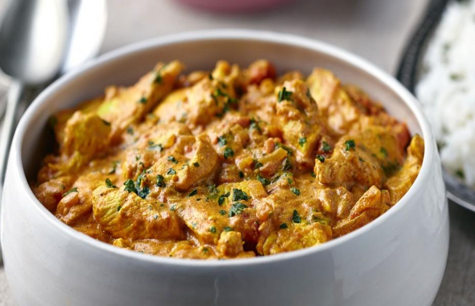 Creamy Malabar Chicken Curry with Fragrant Coriander Coconut Rice