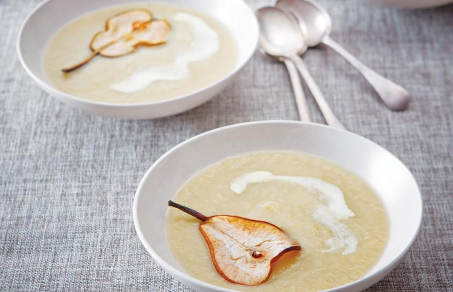 Creamy Artichoke and Pear Soup