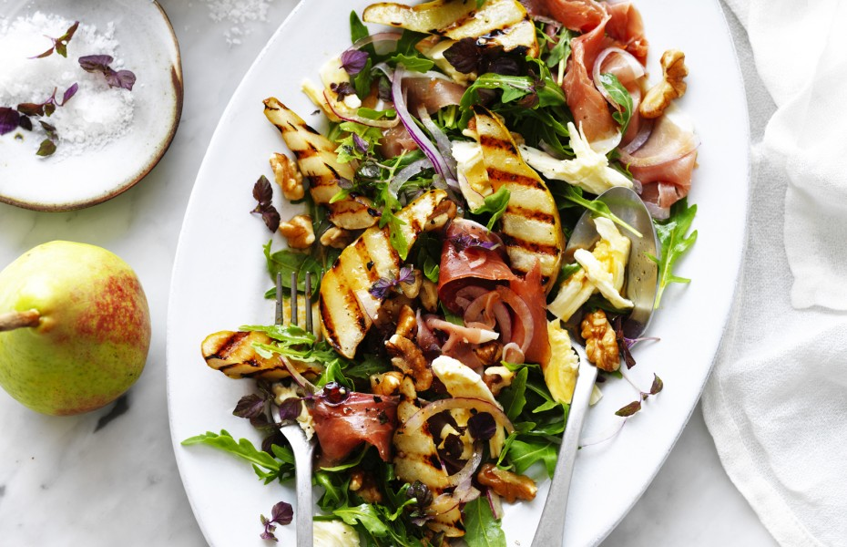 Grilled Pear, Rocket and Prosciutto Salad