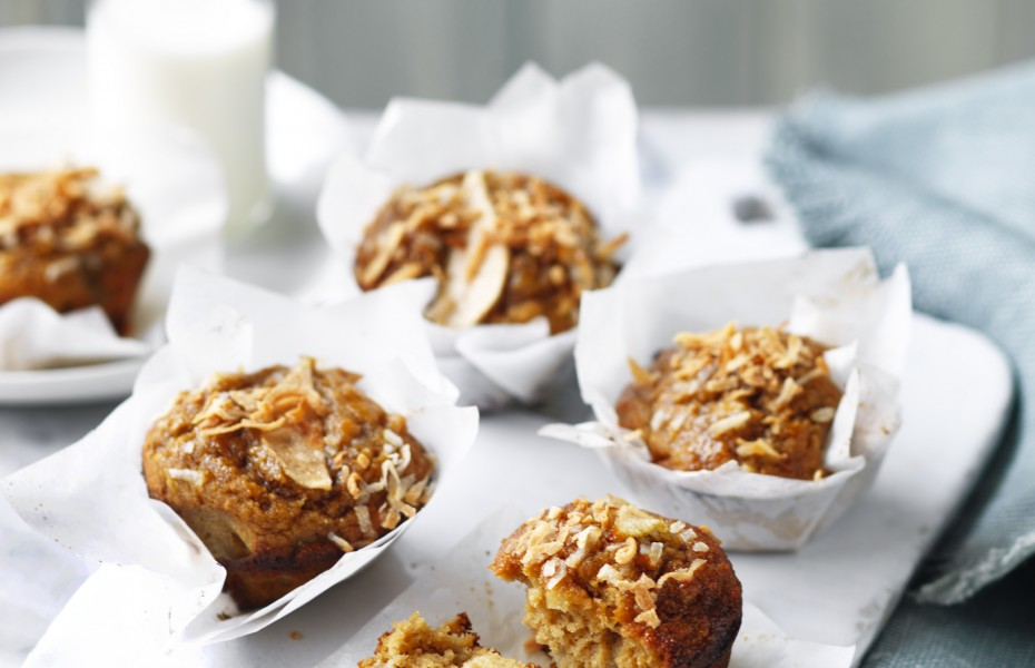Pear and Coconut Muffins