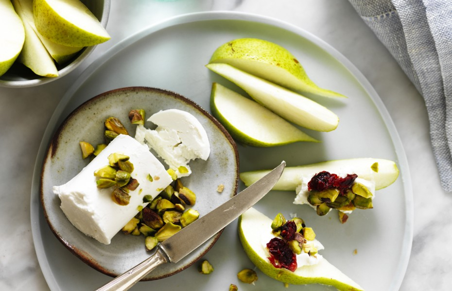Pear and Goats Cheese snack recipe