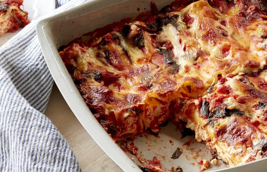 Ricotta, Lemon and Mozzarella Cannelloni Bake