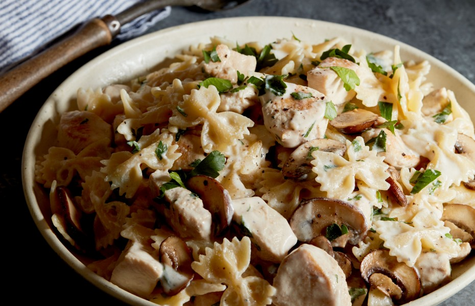 Chicken and Mushroom Farfalle with 4 Cheese Ricotta