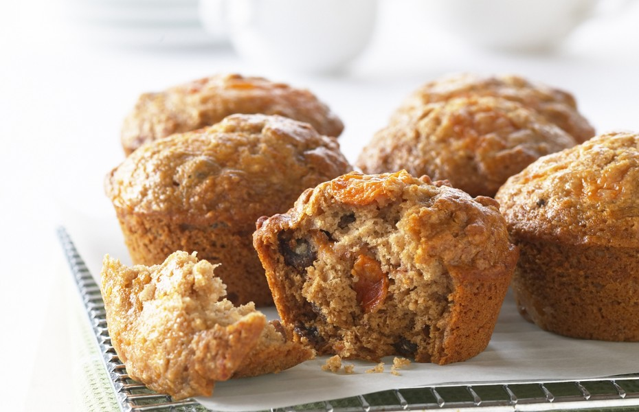 Quick Low Fat Persimmon Muffins