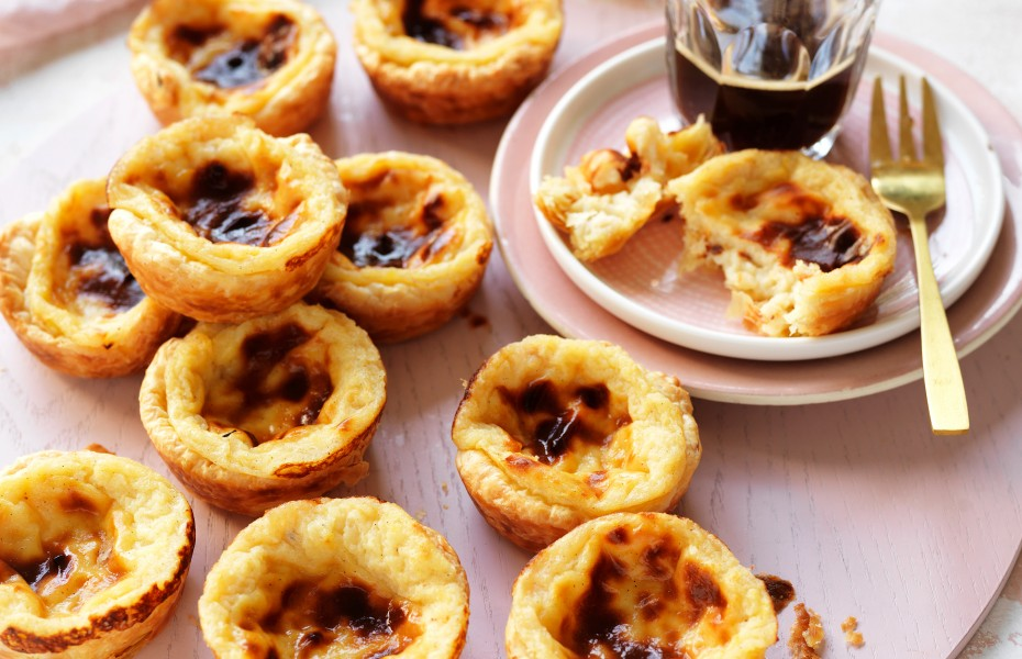 These cheat's portuguese tarts are made using bought puff pastry and a basic custard recipe