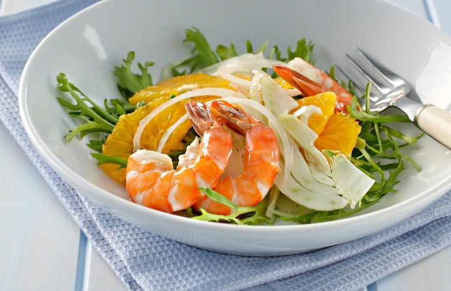 Prawn Salad with Fennel and Orange