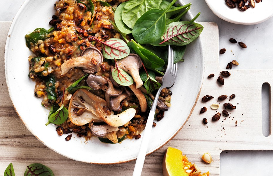 Try this easy vegan pumpkin risotto for 15 minute meal.