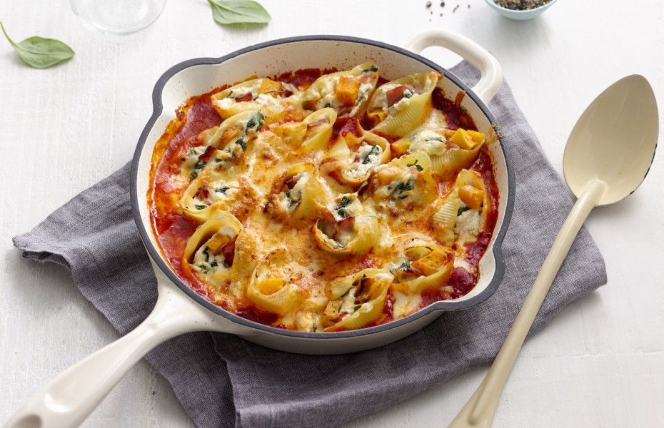 Baked pumpkin, Spinach and Ricotta Pasta Bake Recipe