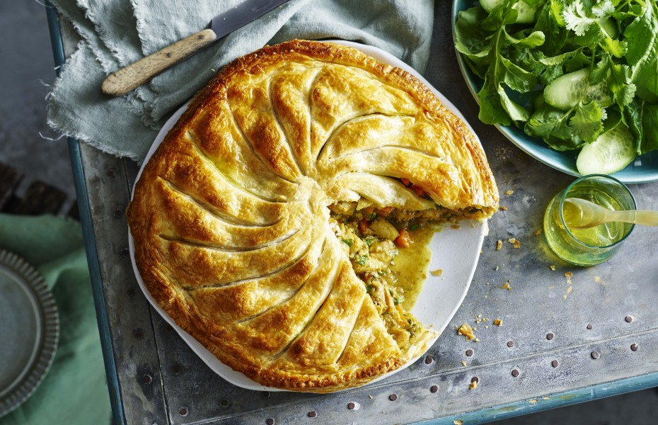 Rustic Free Form Moroccan Chicken Pie