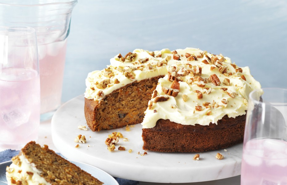 Carrot and Pecan Cake with Cream Cheese Frosting Recipe
