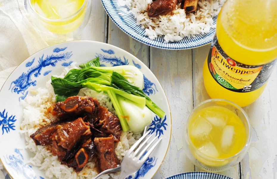 Asian Slow-Cooked Beef Spare Ribs recipe