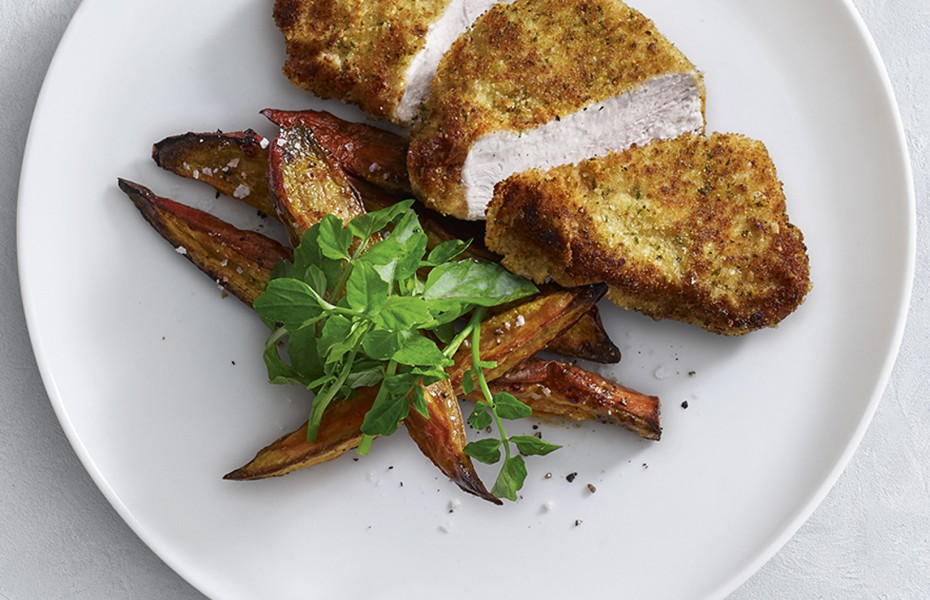 This delicious herbed crumbed turkey breast recipe is a delicious lunch or dinner idea.