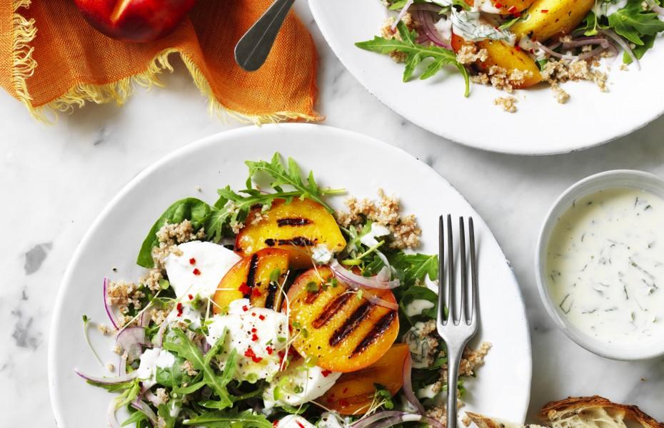 Grilled Yellow Nectarine Salad