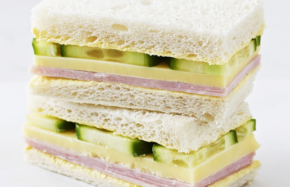 Ham, Cheese and Cucumber Sandwich