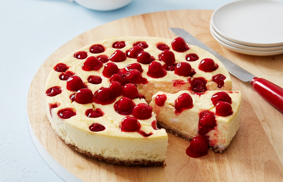 Coconut Cherry Cheesecake