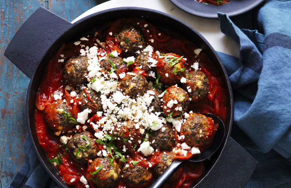 Ricotta and Mushroom Meatballs with Tomato Sauce