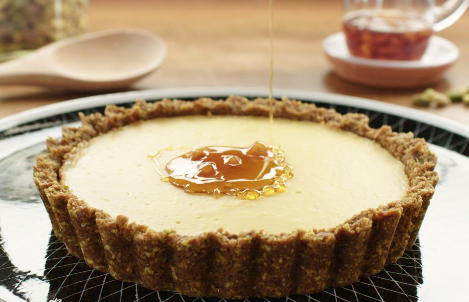 Custard Tart with Ginger Syrup