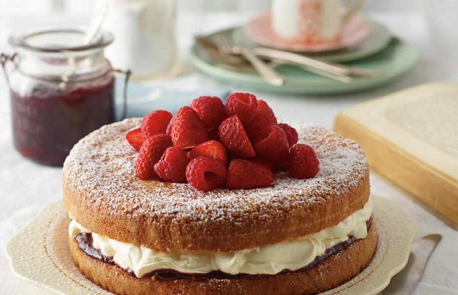 Jam and Cream Victorian Tea Cake