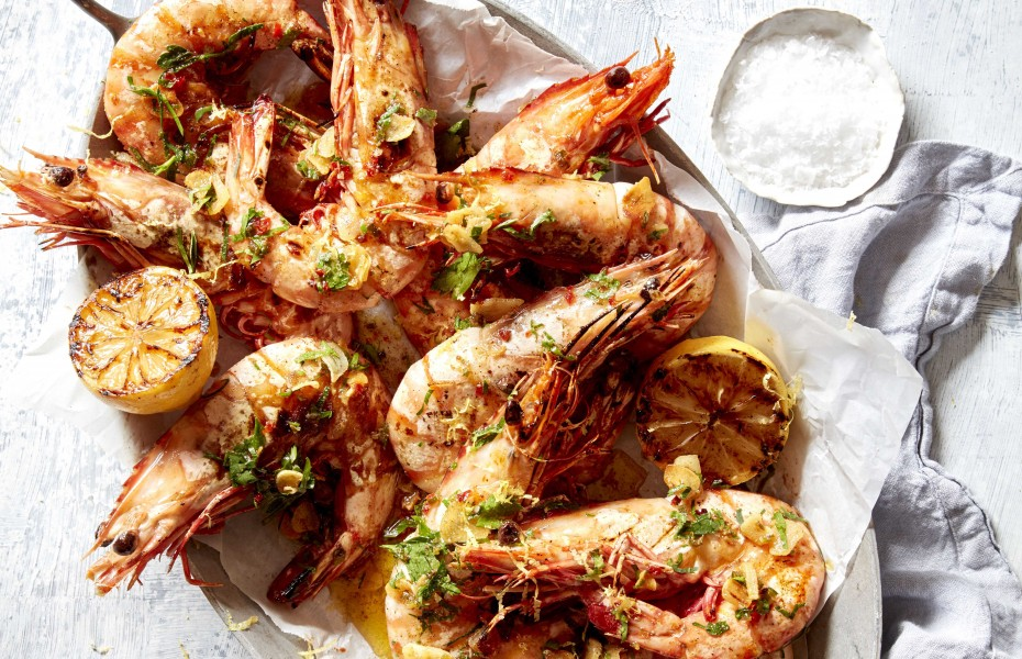 Quick BBQ prawns with Garlic and Chilli barbecue recipe