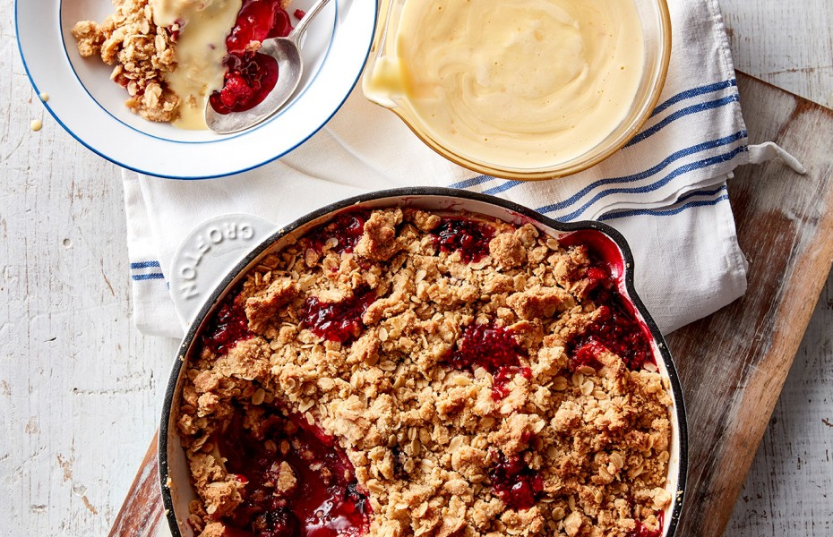 Apple crumble recipe with oats crumble topping