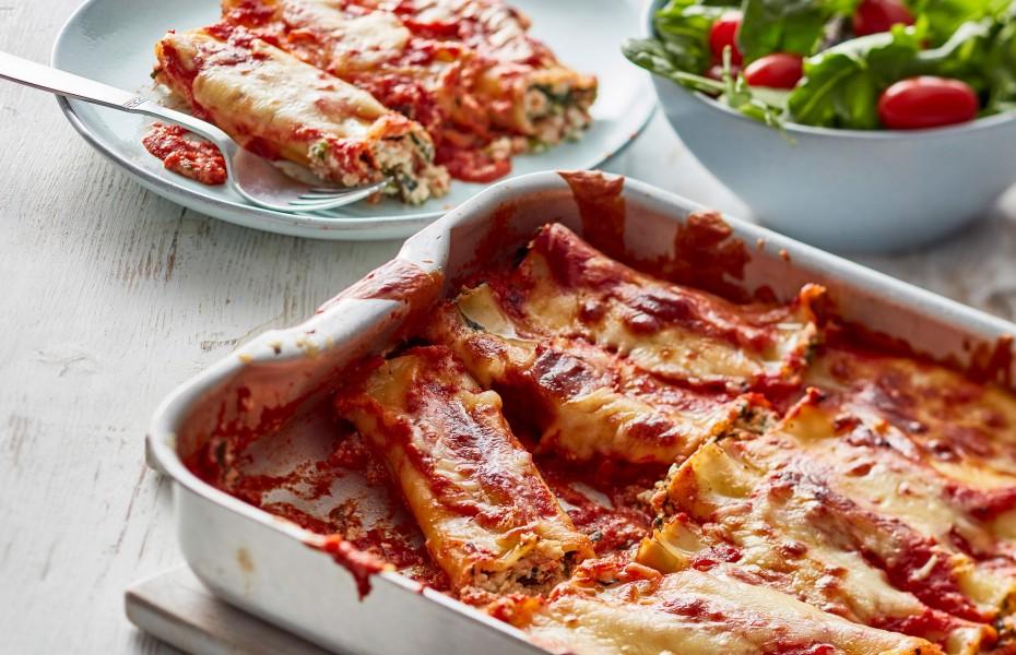Easy spinach and ricotta cannelloni recipe
