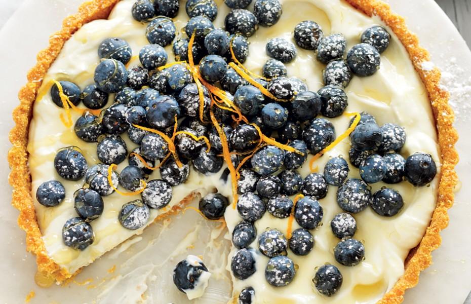 No-bake blueberry and ricotta tart recipe