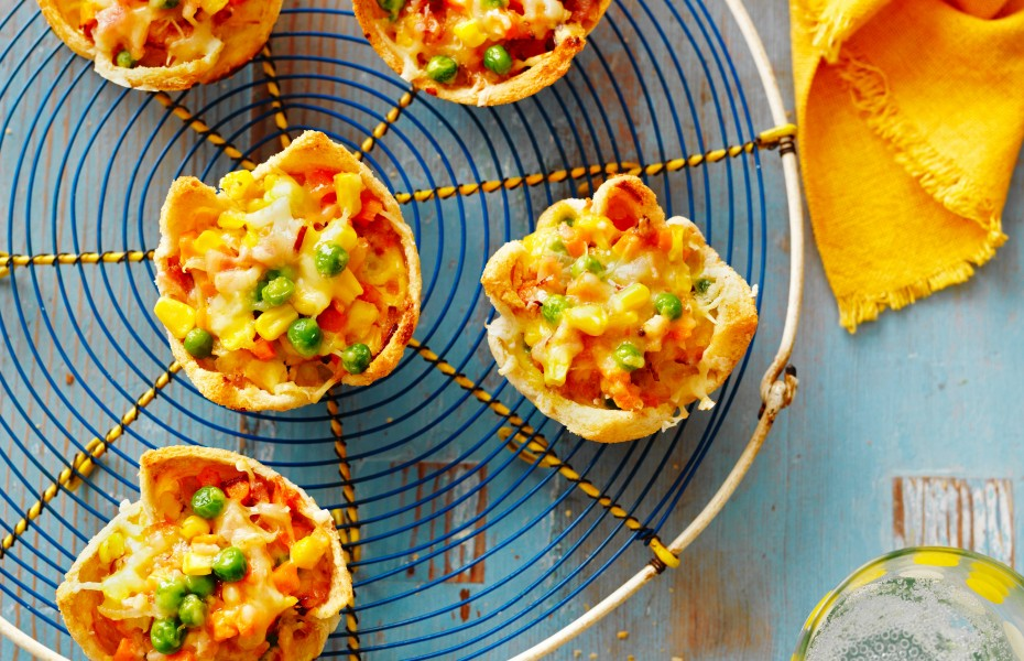 Muffin tin egg pies