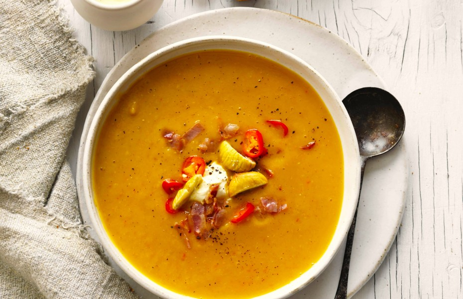 Chestnut soup with pumpkin