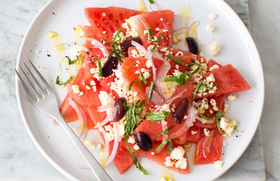 Easy Watermelon Salad with Feta and Mint