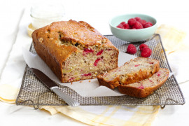 Banana Raspberry and Coconut Bread