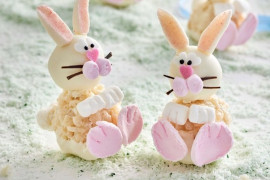 Easy no-bake Easter cooking ideas for kids: chocolate crackle bunnies