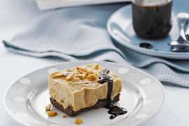 Frozen Chocolate Peanut Butter Slice with Brown Sugar