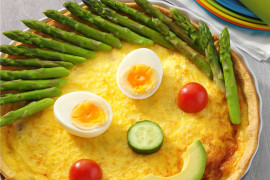 Funny Face Quiche recipe on myfoodbook.com.au
