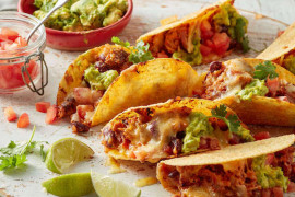 Cooking Mexican food taco recipe