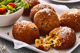 How to make arancini balls with leftover risotto