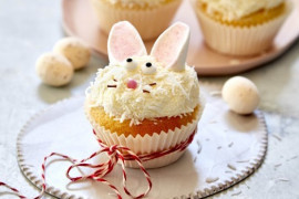 Kids baking ideas for all ages: Bunny cupcakes