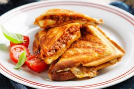 Cheesy Bolognese Jaffles - comfort winter food