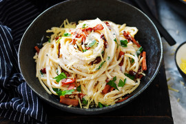 Easy four cheese Spaghetti Carbonara