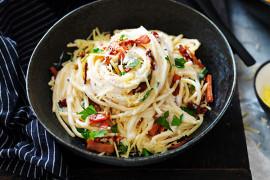 Easy four cheese Spaghetti Carbonara