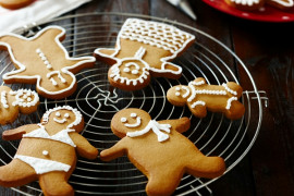 Decorated gingerbread men and women
