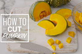 How to cut pumpkin for cooking