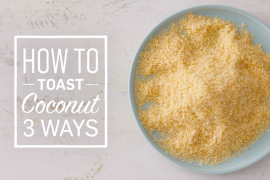 How to toast coconut in a pan, oven and microwave