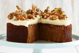 Butternut Pumpkin Spice Cake with Sunflower Almond Toffee